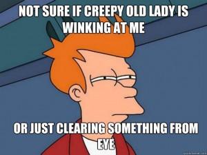 winking