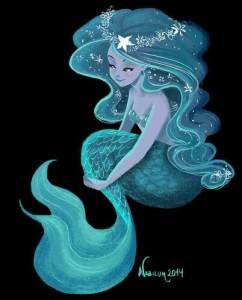 cartoon mermaid via roberta eastwood